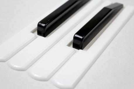 Klawiatura, nakładki do akordeonu BIAŁE (komplet)