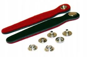 Paski spinające miech akordeonu BLACK/RED skóra/fi