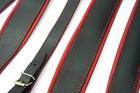 ZESTAW pasów, pasków POLSKIE SZEROKIE BLACK/RED do akordeonu (4)