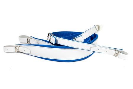 SZEROKIE pasy nośne do akordeonu BLUE/WHITE (1)